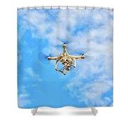 Drone On The Air Shower Curtain