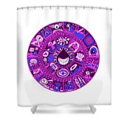 Drop Mandala Purple And Blue Shower Curtain