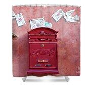 Drop Me A Letter Mr. Postman Shower Curtain