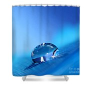 Drop Of Blue Shower Curtain