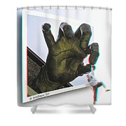 Drop Out - Use Red-cyan 3d Glasses Shower Curtain