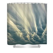 Dropping Clouds Shower Curtain