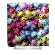 Drops And Candies Shower Curtain