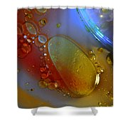 Drops And Rainbow Shower Curtain