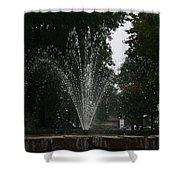 Drops Of Fountain Shower Curtain