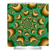 Drops Of Gold Shower Curtain