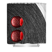 Drops On Steel Shower Curtain