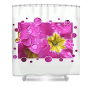 Bubbly Pink Raindrops  Shower Curtain
