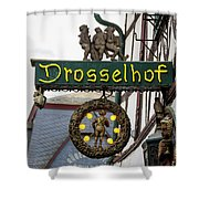 Drosselhof Neon Sign Shower Curtain