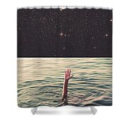 Drowned In Space Shower Curtain