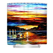 Drowned Sunset Shower Curtain