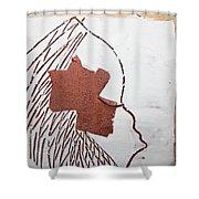 Drowsy - Tile Shower Curtain
