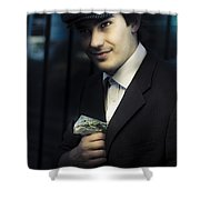 Drug Dealer With Marijuana Shower Curtain