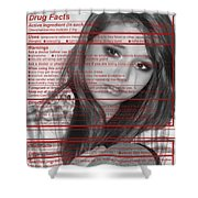 Drug Facts Shower Curtain