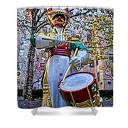 Drummer Boy  In Rockefeller Center Shower Curtain