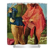Drummers And Pipers Shower Curtain