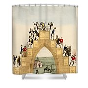 Drunkards Progress, 1846 Shower Curtain