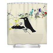 Drunkin Birds Come Calling Shower Curtain