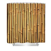 Dry Bamboo Rows Shower Curtain