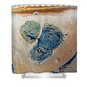 Dry Cream Crusted Gold Dust Trail Shower Curtain