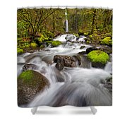 Dry Creek Falls In Spring Shower Curtain
