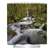 Dry Creek Falls In Springtime Shower Curtain