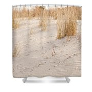 Dry Dune Grass Plants Shower Curtain