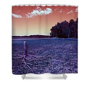 Dry Lake Infrared Shower Curtain