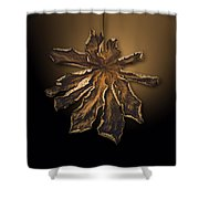 Dry Leaf Collection Digital  Shower Curtain