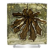 Dry Leaf Collection Natural Shower Curtain