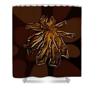 Dry Leaf Collection Psychedelic Shower Curtain