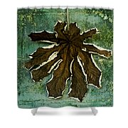 Dry Leaf Collection Wall Shower Curtain