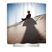 Dry Meditation Shower Curtain