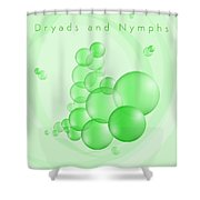 Dryads And Nymphs Bubbles Shower Curtain