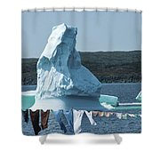 Drying Clothes In Ice Berg Alley Shower Curtain