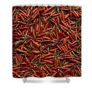 Drying Red Hot Chili Peppers Shower Curtain