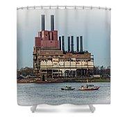 Dte Power Plant  Shower Curtain