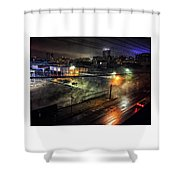 Los Angeles Night Shower Curtain