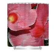 Dual Beauty In Pink Shower Curtain