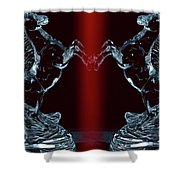 Dual Of Stallions Shower Curtain