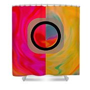 Dualism Shower Curtain by Mihaela Stancu