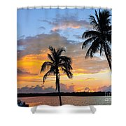 Duality At Dusk Shower Curtain