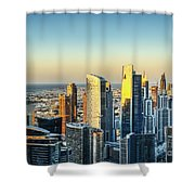 Dubai Towers At Sunset. Shower Curtain