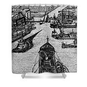 Dublin Port  Shower Curtain