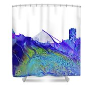 Dublin Skyline Shower Curtain