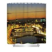 Dublin,co Dublin,irelandview Of The Shower Curtain