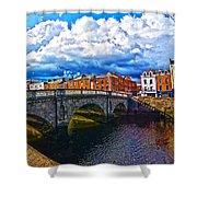 Dublin's Fairytales Around Grattan Bridge 2 Shower Curtain