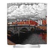 Dublin's Fairytales Around Grattan Bridge 2 V3 Shower Curtain