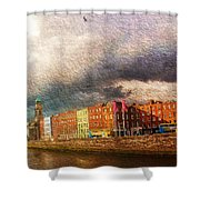 Dublin's Fairytales Around  River Liffey 2 Shower Curtain