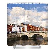 Dublin's Fairytales Around  River Liffey 3 Shower Curtain